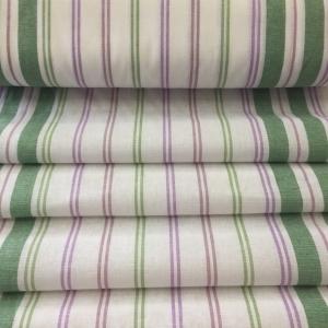 Ткань на отрез полулен полотенечный 50 см 27/3 Полоса брусника зеленый 703096