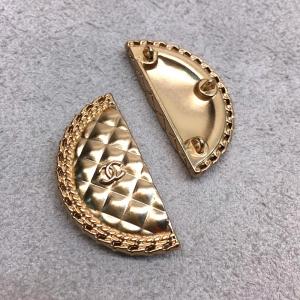 Пуговица металл ПМ180 19*40мм золото полукруг ШНЛ уп 12 шт
