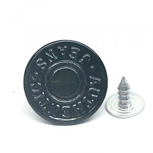 Пуговица джинс ПД 105 черный 17мм уп 12 шт
