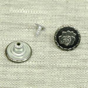 Пуговица джинс ПД085 темное серебро 17мм уп 12 шт
