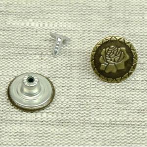 Пуговица джинс ПД086 бронза 17мм уп 12 шт