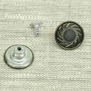 Пуговица джинс ПД092 темное серебро 17мм уп 12 шт