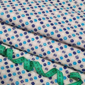 Ткань на отрез бязь плательная 150 см 11697/2 цвет синий