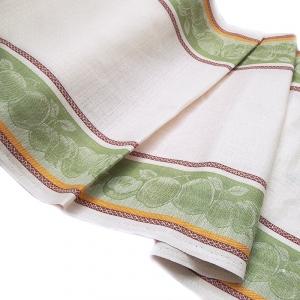 Полулен полотенечный 50 см Жаккард цвет салатовый