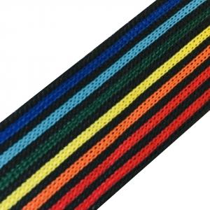 Лампасы №79 черный разноцветные полосы 3 см 1 метр
