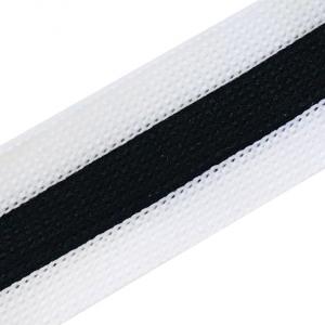 Лампасы №70 черно белые 2.5см 1 метр