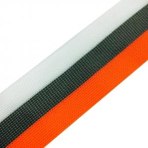 Лампасы №66 белый серый оранжевый 3,5см 1 метр