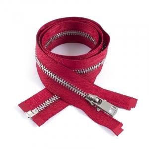Молния металл №5ТТ никель разьем 75см D171 красный
