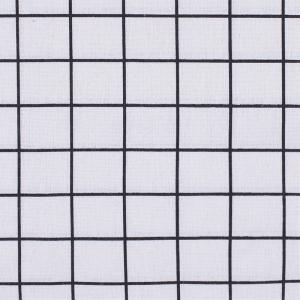 Ткань на отрез лен TBY-DJ-24 Клетка цвет бежевый