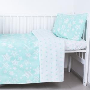 Постельное белье в детскую кроватку 1556/7А+1683/16 цвет мята