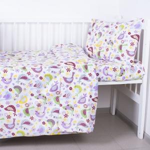 Постельное белье в детскую кроватку 1801/2 сирень