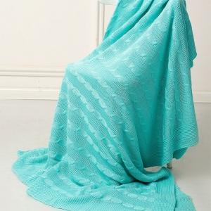 Покрывало-плед Коса 180/200 цвет мята