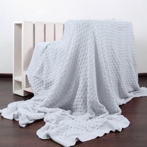 Покрывало-плед Паучок 150/200 цвет серый