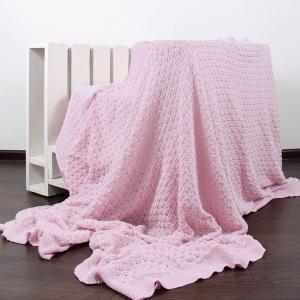 Покрывало-плед Паучок 150/200 цвет розовый