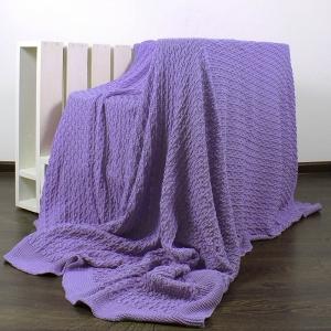 Покрывало-плед Паучок 150/200 цвет фиолетовый