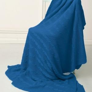 Покрывало-плед Коса 180/200 цвет синий