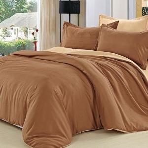 Полисатин гладкокрашеный 220 см цвет коричневый