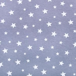 Ткань на отрез кулирка Звезды 1167-V1