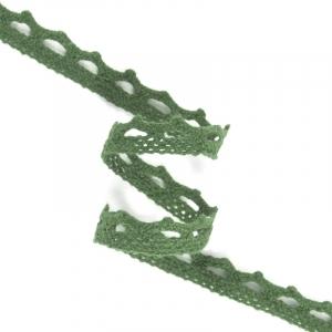 Кружево лен DX1017 зелень 1,2см 1метр