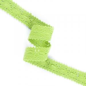 Кружево лен 200018 Ярк зеленый 1,5см 1метр