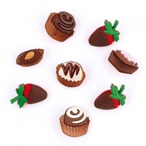 Набор декоративных элементов JESSE JAMES 6544 Шоколадные сладости 1 упак