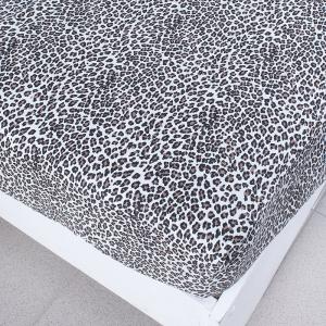 Простыня трикотажная на резинке цвет леопард1 140/200/20 см