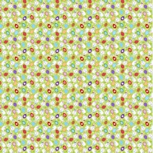 Вафельное полотно набивное 150 см 1263/1 Пасхальный кролик на зеленом фоне