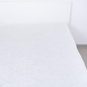Простыня на резинке бязь 5032/5 Вензель белый 90/200/20 см