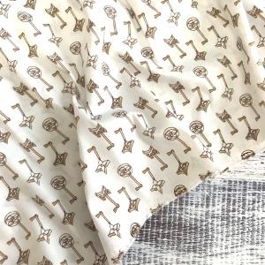 Рубашечная ткань на отрез Элиф 21-10 Ключики