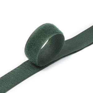 Лента-липучка 25 мм 1 м цвет F273 зеленый