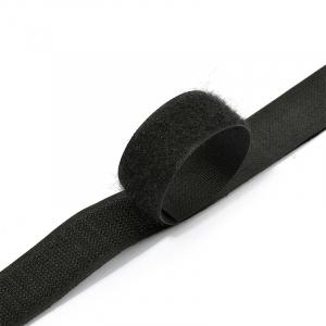 Лента-липучка 25 мм 1 м цвет F322 (310) черный
