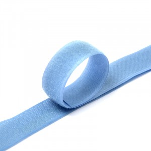Лента-липучка 25 мм 1 м цвет F331 голубой