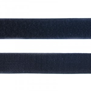 Лента-липучка 25 мм 1 м цвет черный