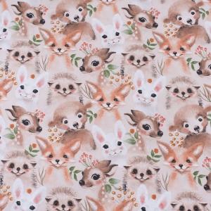 Ткань на отрез бязь премиум ГОСТ детская 150 см 13206/1 Маленькие зверята