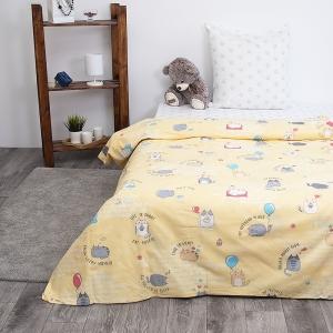 Детское постельное белье из бязи 1.5 сп 3033-3 Котики цвет желтый
