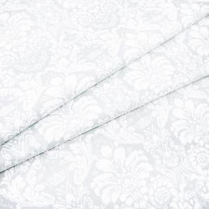 Ткань на отрез поплин 220 см 115 г/м2 391/26 Дамаск цвет светло-серый