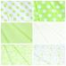 Ткань на отрез бязь плательная 150 см 1422/22А белый фон салатовый горох