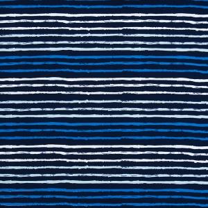 Ткань на отрез интерлок пенье Морская полоса R325