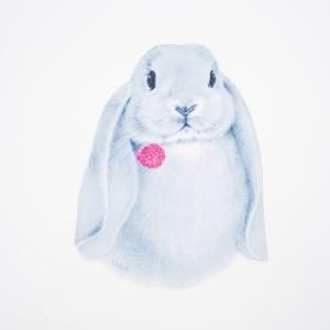 Аппликация термо Кролик 29*23см