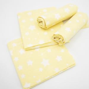 Набор детских пеленок поплин 4 шт 73/120 см 1733/6 цвет желтый