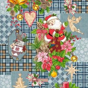 Полотно вафельное 50 см набивное арт 60 Тейково рис 5642 вид 3 Дед Мороз