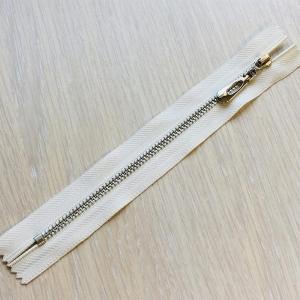 Молния металл №4 никель н/р 16см D841 белый