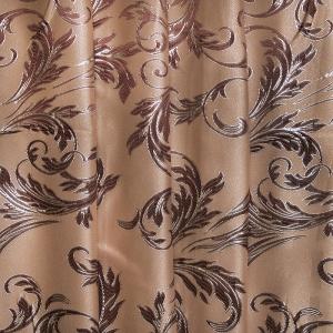 Портьерная ткань с люрексом 150 см на отрез Х7187 цвет 11 бежевый ветка