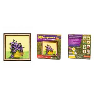 Набор для творчества 3D картона из фоамирана арт.ВМ.FM03 'Полевые цветы' 27х27 см