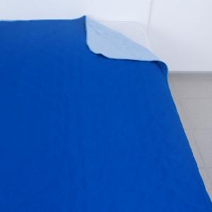 Покрывало детское ультрастеп двухстороннее цвет голубой-ярк.синий 105/150 см