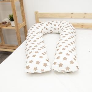 Наволочка бязь на подушку для беременных U-образная 1737-А/18 цвет кофе