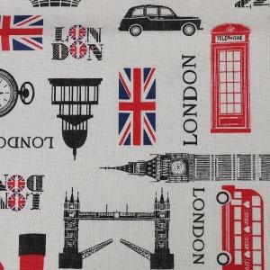Ткань на отрез лен TBY-DJ-39 Лондон
