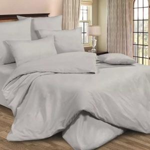 Ткань на отрез полисатин гладкокрашеный 220 см цвет 14-4203 серый