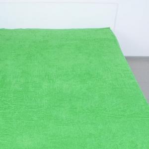 Простынь махровая цвет Зеленый 190/200