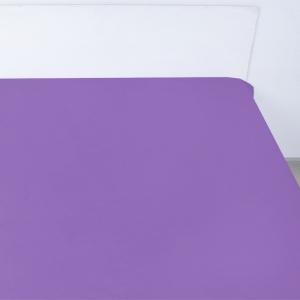 Простынь на резинке поплин цвет черника 90/200/20 см
